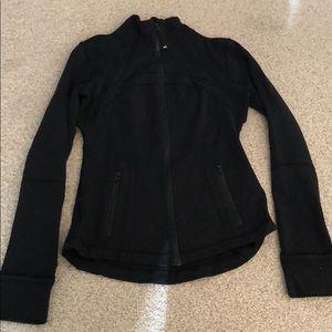 Lululemon black zip jacket size 6